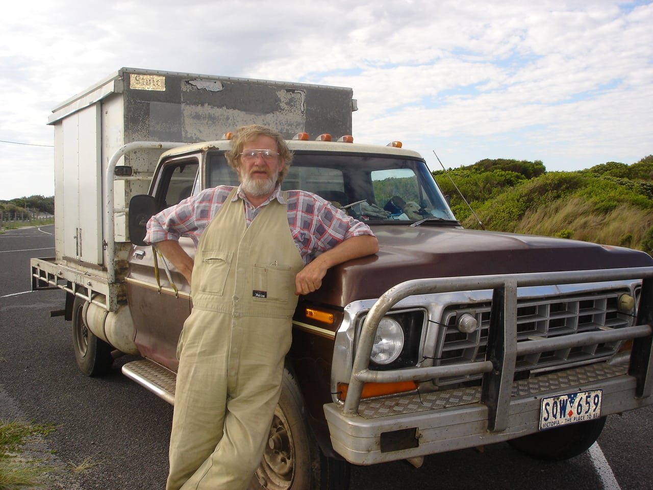 Swampy and his truck